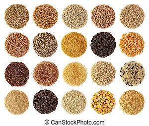 gabonafélék, gyűjtés
