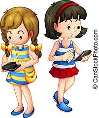 gadget, filles, deux, tenue