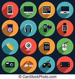 Gadget flat icons