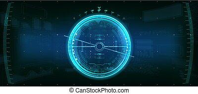Gadget HUD. Futuristic User Element