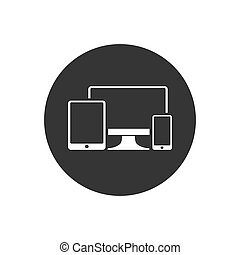 Gadget Icon. Devices Illustration As A Simple Vector Sign Trendy Symbol for Design, Websites, Presentation or Mobile