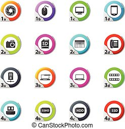 Gadget icons set