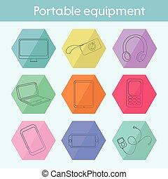 Gadget modern flat icon vector illustration