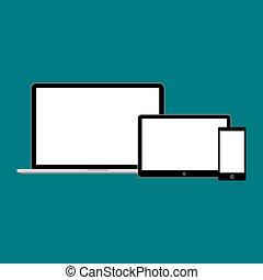 gadget, moderne, illustration