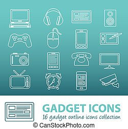 gadget outline icons