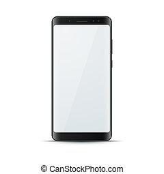 gadget, réaliste, numérique, icon., smartphone, 3d