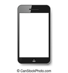 Gadget - Realistic mobile phone with blank screen. ...
