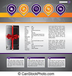 Gadget selling website template design