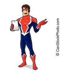 gadget, superhero, vriendelijk