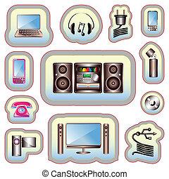 gadgets, électronique, icône