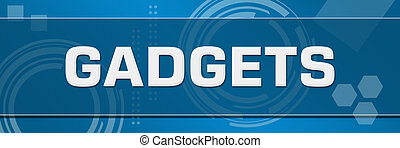 Gadgets Abstract Blue Technical Background Horizontal