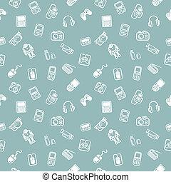 gadgets, achtergrond, seamless, textuur
