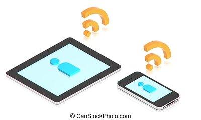 gadgets, connexion, entre