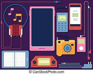 Gadgets Elements Illustration