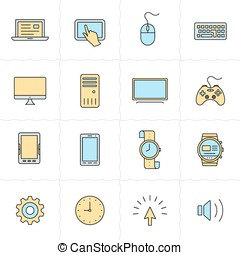 Gadgets icon set