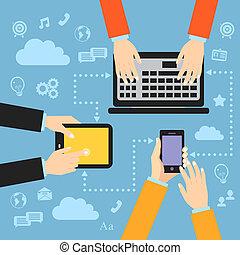 gadgets, mains affaires