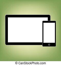 gadgets, style, résumé, moderne, screen., contenu, gabarit, vide, n'importe quel