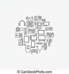 Gadgets vector illustraion - vector set of different modern...