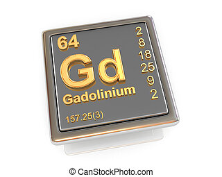 gadolinium., chemikálie, element.
