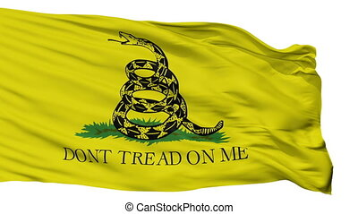 Gadsden Flag Isolated Seamless Loop