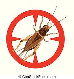 gafanhoto, icon., fundo, isolado, ícone, vetorial, grasshopper., caricatura, branca