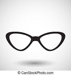 gafas de sol, o, plano de fondo, icono
