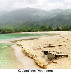 gafas de sol, playa