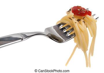 gaffel, spagetti