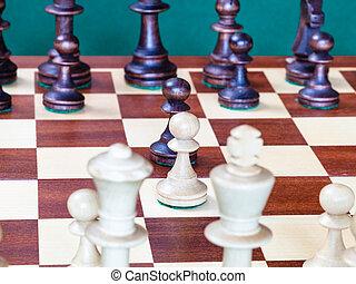 gages, milieu, échiquier, échecs