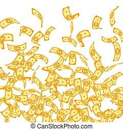 gagné, notes, falling., coréen, flotter, factures, wh
