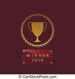 gagnant, 2016, étiquette