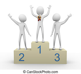 gagnant, 3d, mieux, vendeur