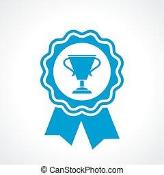 gagnant, certificat, cachet