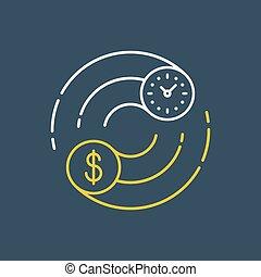 gagner, business, échange, argent, icône, finances, stockage