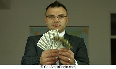 gai, argent, projection, banquier