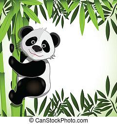 gai, bambou, panda