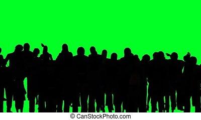 gai, foule, gens, applaudissement
