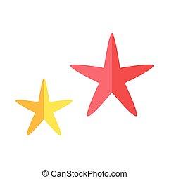 gai, mignon, starfishe