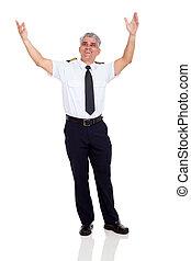 gai, personne agee, ligne aérienne commerciale, pilote