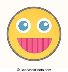gai, sourire, smiley, -, dessin animé