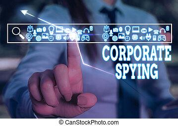 gain, business, constitué, investigation, concurrents, conceptuel, signe, texte, advantage., photo, projection, spying.