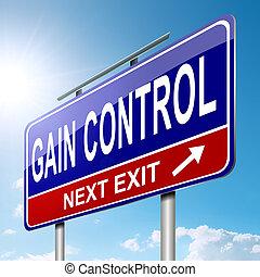 Gain control concept. - Illustration depicting a roadsign...