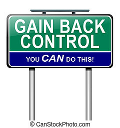 Illustration depicting a roadsign with a control concept. White background.