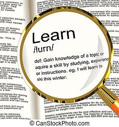 gained, 定義, 知識, 提示, 学びなさい, magnifier, 勉強しなさい
