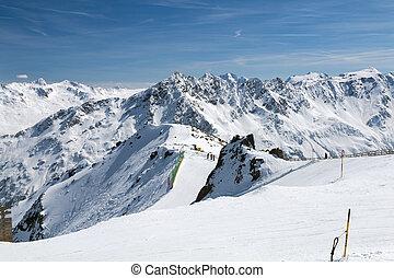 Gaislachkogel in Winter, Austria