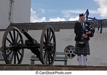 gaita, 2011., escocia, reino, escocés, unido, destino, -,...