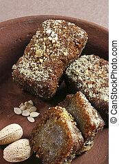 Gaja - Chhena Gaja is a sweet dish from Orissa - Gaja(Chenna...