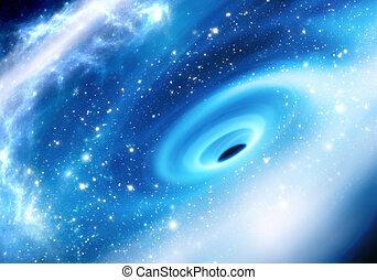 galáctico, centro, negro, manera, lechoso, agujero, supermassive