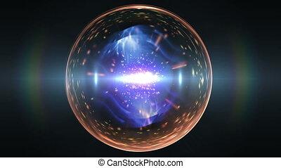 galáxia, bola, em, espaço