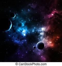 galáxia, fundo